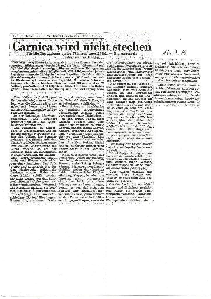 Carnica wird nicht stechen_1976